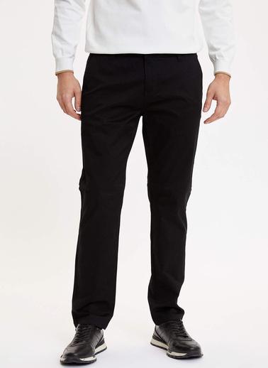 DeFacto Regular Fit Chino Pantolon Siyah